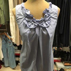 Talbots chambray blouse